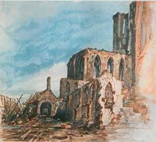 Ruins of a Cloister in Messines (1914)